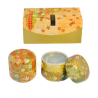 Set of 2 cans of 100gr with golden gift box
